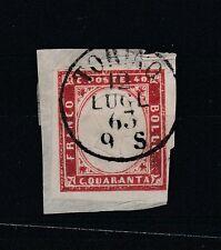 FRANCOBOLLI 1863 SARDEGNA 40 C. TORINO 12/7 B/3504
