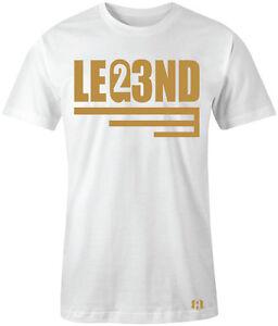 Metallic-Gold-034-LEGEND-23-034-T-Shirt-to-Match-Retro-8-034-CHAMPIONSHIP-TROPHY-034