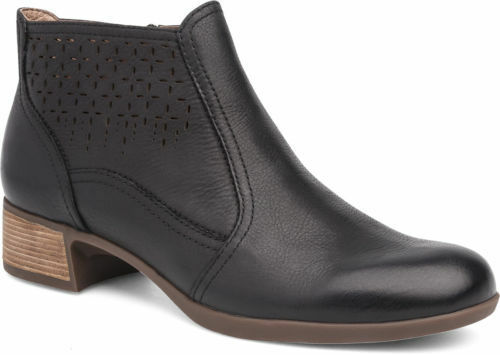 Dansko Boots Women's Liberty Black Leather Cut Out Ankle Boots Dansko Sizes 38, 42 88e19f