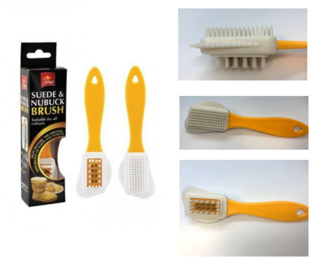 SUEDE NUBUCK BRUSH RESTORE UGG CLEANER REVIEVER RUBBER STAINS BRASS HAIR PUNCH