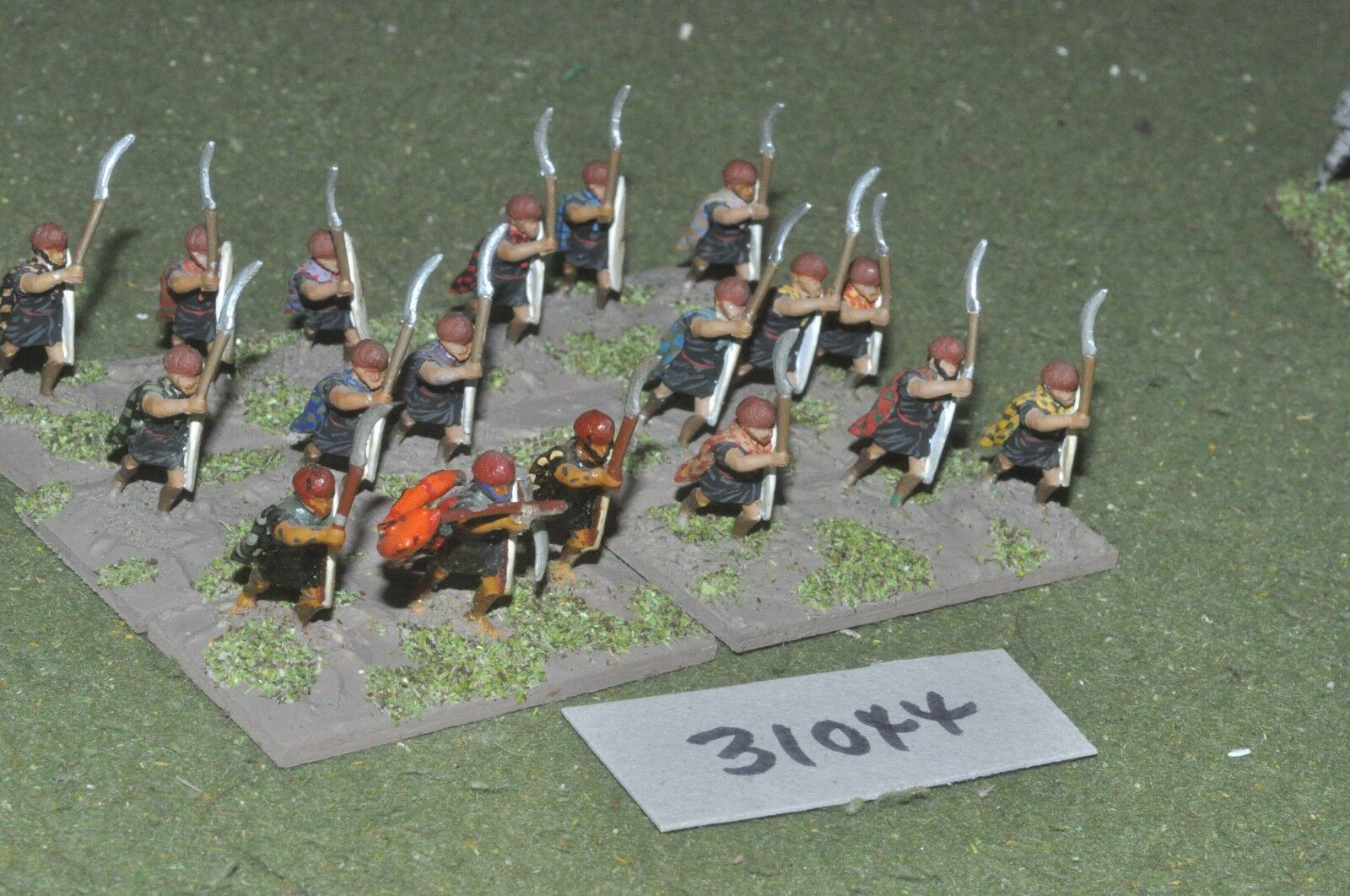 25mm classical   thracian - peltasts 18 figures - inf (31044)
