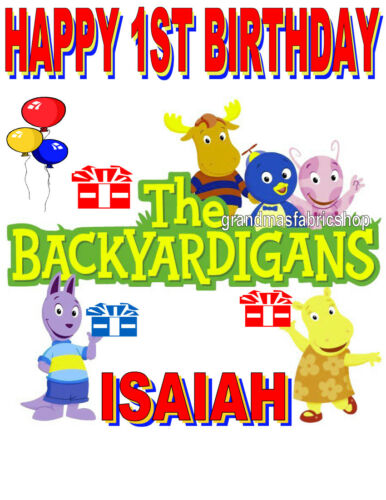New Backyardigans Personalized Birthday T Shirt Party Favor Add Name /& Age