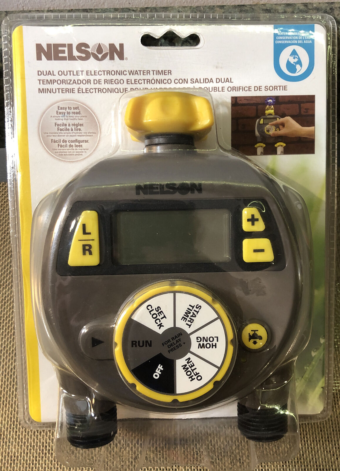 Nelson Dual Outlet Electronic Water Timer Brand New (56612) SAME DAY SHIPPING!!
