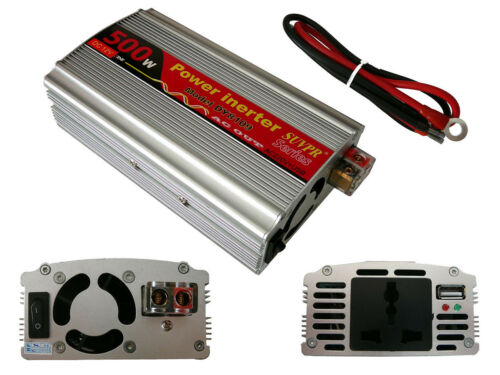 Max 800W Convertisseur Inverseur 12V vers 220V 500W