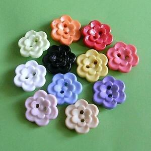 25-Flower-Cardigan-Baby-Bebe-Kid-2-Holes-Sewing-Buttons-Craft-12-5mm-0-5-034-20L
