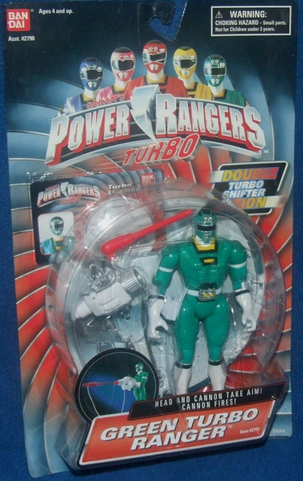 Power Rangers Vert TURBO RANGER Double Turbo Tamis Action NEUF 5  FACTORY SEAL