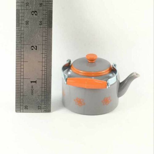 """AMERICAN GIRL DOLL 1.5/""""Grey Teapot Kettle Figure LANIE RV CAMPER REPLACEMENT Toy"""