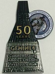 NASA-Gemini-4-Medallion-Token-Contains-Flown-In-Space-Metal-Numbered-Limited