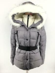 Details zu Women Ladies New Short Warm Padded FAUX FUR Belt Hood Puffer CoatJacket 7012