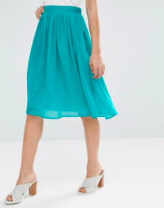 Y.A.S  Ladies Lapis Midi Skirt In Teal UK8 EU36 US4