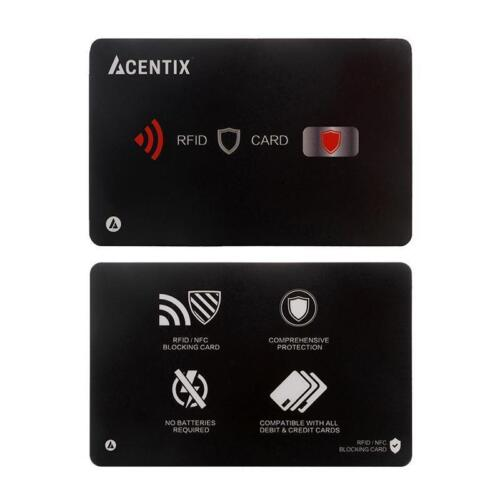 2 PACK ACENTIX ULTRA UK RFID Blocking Card Contact less UK Debit Card Protector