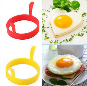 4Pcs Silicone Round Egg Rings Pancake Mold Ring W Handles Nonstick Fried Frying