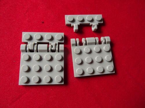 Charnière X 2 Lego 44568 /& 44570 gris clair charnière plaque avec verrouillage Duel Doigts