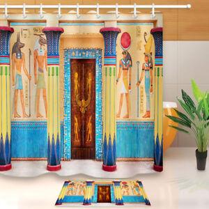 Ancient Egyptian Temple Shower Curtain Hooks Bathroom ...