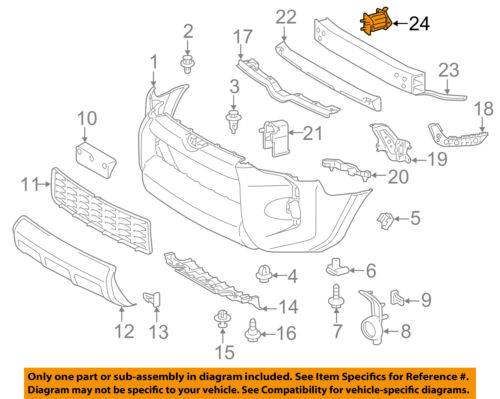 TOYOTA OEM FRONT BUMPER-Rail Extension Right 5202560050