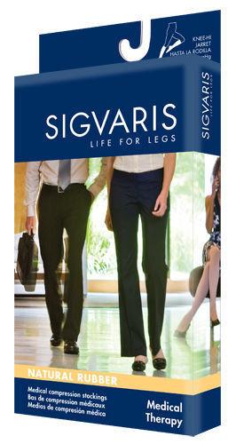 Sigvaris 503 Natural Rubber 30-40 Open Toe Unisex Waist Attachment Compression