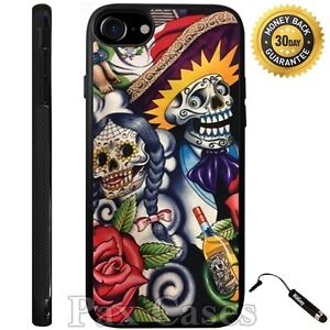 Sugar-Skull-Day-of-the-Dead-Case-For-iPhone-6S-7-Plus-Samsung-Galaxy-S7-S8-Plus