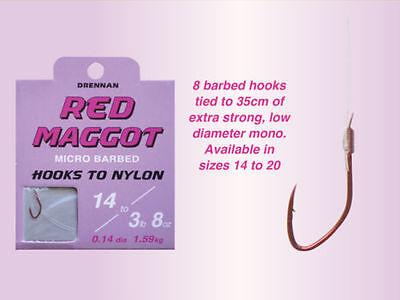 Drennan red mouche crochets pour nylon-Toutes Tailles