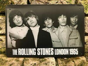 THE ROLLING STONES LONDON 1965  MUSIC STUDIO VINTAGE RETRO METAL SIGN 30X20cm