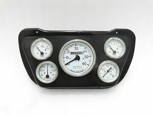 WILLYS JEEP SPEEDOMETER + MOUNTING BLACK PLATE COMPLETE WHITE FACE