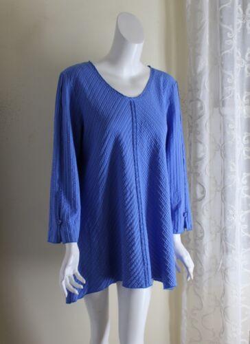 Habitat -Sz M Lux Art-to-wear Blue Crinkled Funky