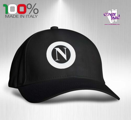 NAPOLI Cappello Berretto Hat Cappellino Houston 5 pannelli NERO