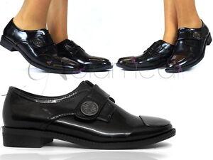 migliori scarpe da ginnastica b1f19 4afd5 Dettagli su scarpe donna eleganti punta metallo basse vernice mocassini  senza tacco slip on