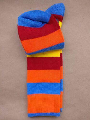 Men/'s George Fashion Crew Dress Socks Fruit Striped 1 Pair Size 6-12