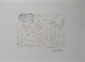 Pablo-PICASSO-d-039-apres-les-acrobates-LITHOGRAPHIE-signee-1200ex