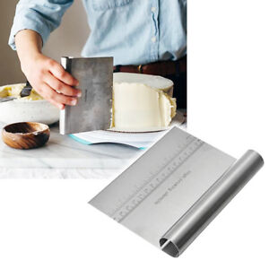 Stainless Steel Pizza Dough Cutter Flour Scraper Pastry Kitchen Cake Baking Tool