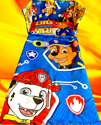 BLUE Paw Patrol Rescue Dogs Marshall Chase BEDDING SET