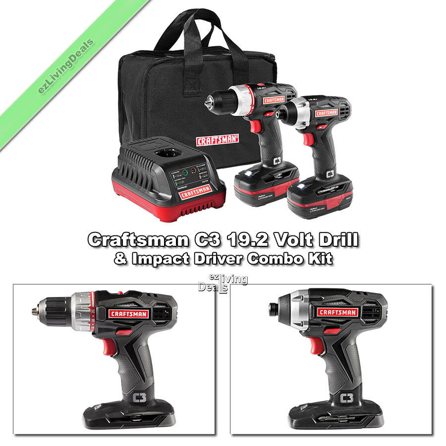 craftsman cordless 1 2 drill 1 4 impact driver c3 19. Black Bedroom Furniture Sets. Home Design Ideas