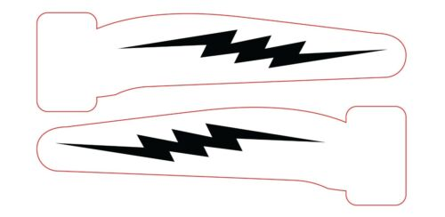 """6 x 078"""" Inch Fishing Lure Stencils Various Patterns"""