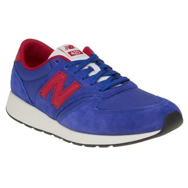 New MENS NEW BALANCE blueE 420 SUEDE Sneakers Retro