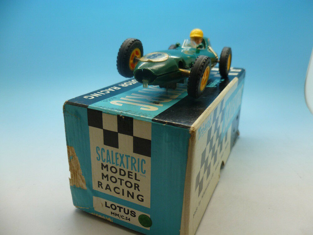 Scalextric Lotus C54 no8 in green type 1 boxed great condtion