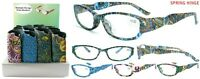 Multiple Print Design Ladies Plastic Reading Glasses With Pouch + Free Gift