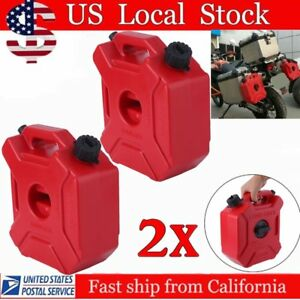 2X Gas Storage 1.3 Gallon Containers Fuel Pack Can w/ Mounting Kits ATV UTV OUY