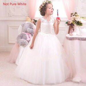 Kids-Flower-Girl-Bow-Princess-Dress-for-Girls-Party-Wedding-Bridesmaid-Gown-O92