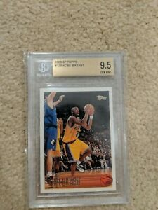 BGS-QUAD-9-5-1996-97-TOPPS-138-KOBE-BRYANT-LAKERS-RC-ROOKIE-GEM-MINT-PSA-10