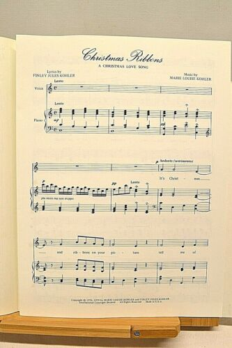 Christmas Ribbons Voice /& Piano Sheet Music A Christmas Love Song