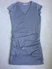 Athleta Gray T Shirt Stretch Knit Ruched Dress, Large, NWOT !!