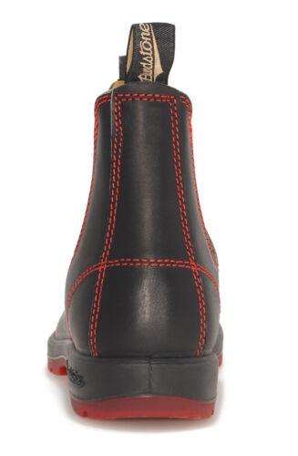 Red Blundstone Style 1316 Australian Chelsea Boots Black