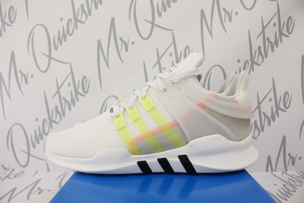 WOMENS ADIDAS EQT ORIGINALS EQT ADIDAS SUPPORT ADV SZ 7.5 WHITE CORE BLACK YELLOW DB0401 86b696