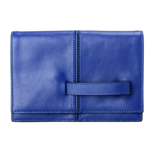 Cuir Sac Pochette Main 100 Garavani À Bleu Femmes Valentino 4pIxnf4