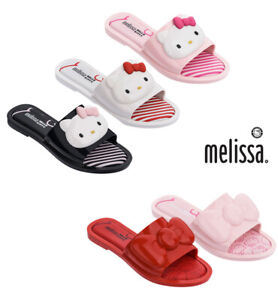 e97147be6 NWT MELISSA Slipper + HELLO KITTY Rubber Cute Face Pink Black Red ...