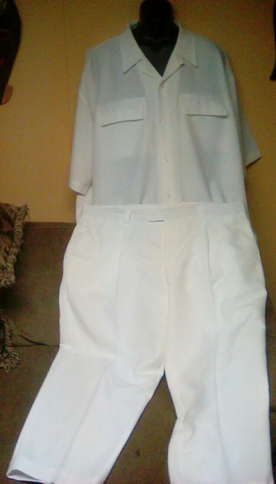 Men's Walking Suit White Short Sleeve sz XXXL