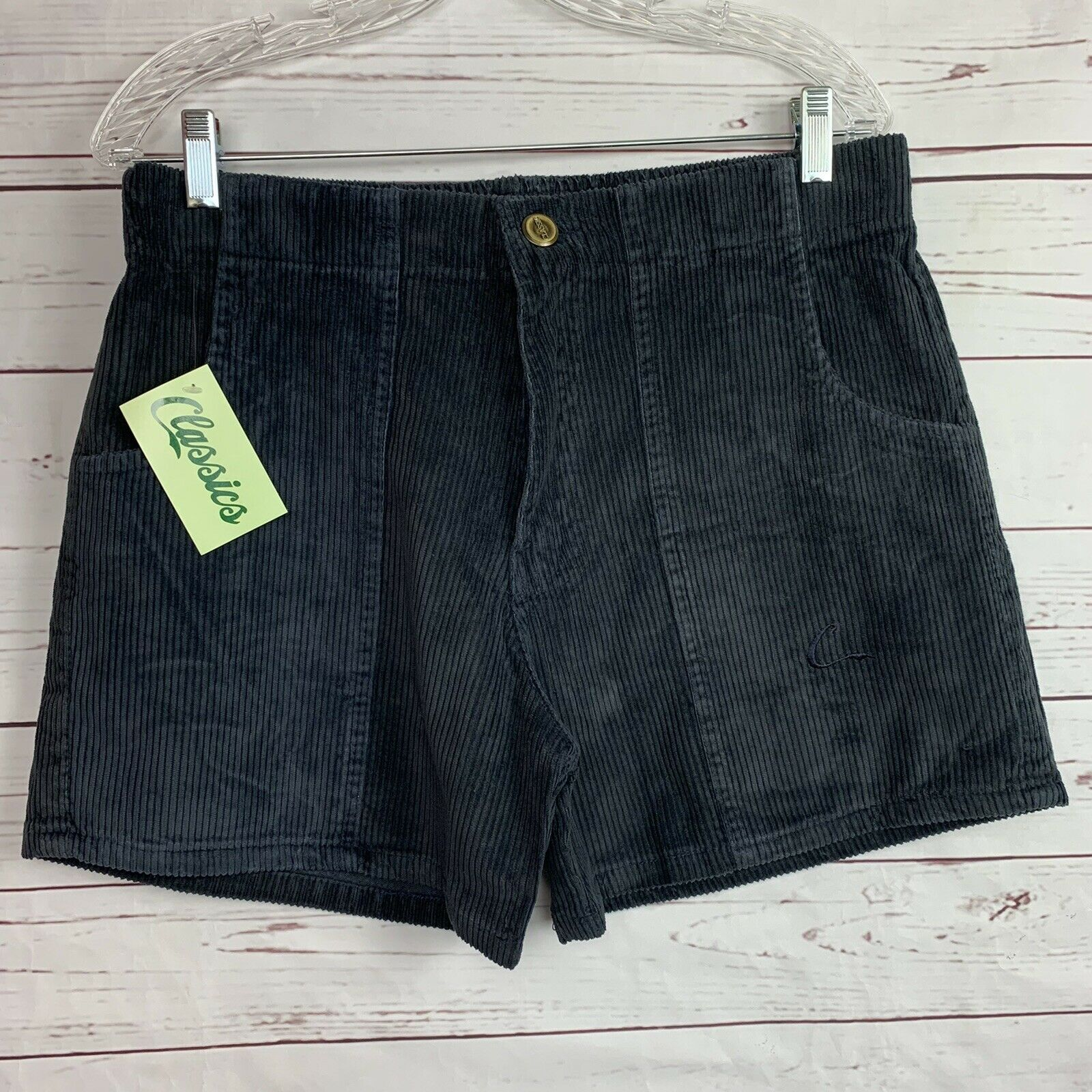 Vintage Navy Blue Corduroy Classics OP Style shorts size 36-38