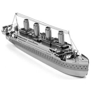 Fascinations-Metal-Earth-Titanic-Ship-Silver-3D-Laser-Cut-Steel-Puzzle-Model-Kit