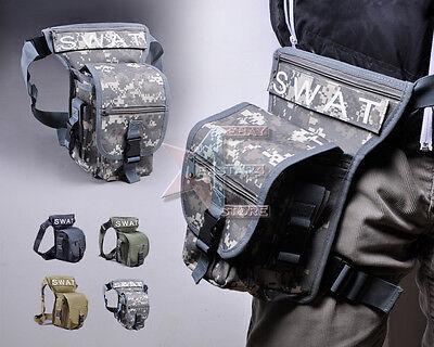 SWAT MULTI-PURPOSE OUTDOOR LEG DROP UTILITY BAG THIGH PACK FANNY PACK