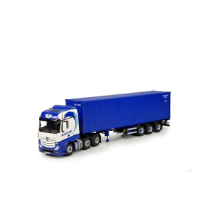 Tekno 72537 Mercedes Bigspace with Container Trailer Maritime 1 50 Scale